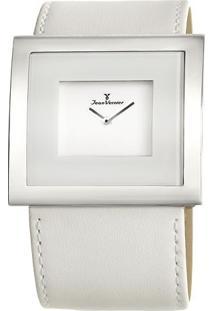 Relógio Analógico Jv02021- Branco & Prateado- Jean Vjean Vernier