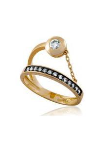 Anel Extension Oa Com Diamante Branco E Ttlb