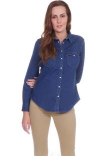 Camisa Levis Tailored Classic Western Azul Escuro Azul