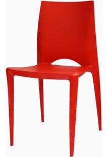 Cadeira Meia Lua Polipropileno Vermelha - 15125 - Sun House