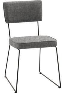 Cadeira Roma Linho Cinza