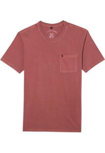 Camiseta John John Rx Pocket Basic Red Dahlia Malha Vermelho Masculina (Red Dahlia, P)