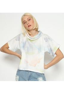 Blusa Abstrata - Off White & Azul- M. Officerm. Officer
