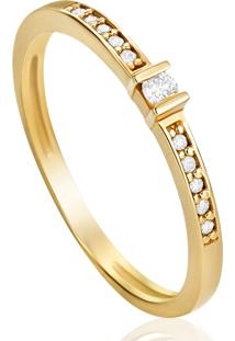5539c0b75d99e ... Anel Em Ouro Amarelo 18K Com Diamante - Solitarios 21