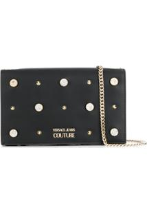 Versace Jeans Couture Embellished Crossbody Bag - Preto