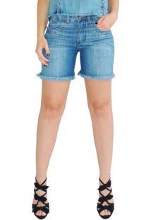 Bermuda Rosa Line Jeans Desfiada Summer Lovers