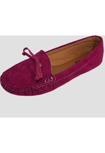 Sapatilha Mocassim Moda Pã© Costurado à Mã£O Marsala - Bordã´/Pink/Roxo/Ruivo/Vermelho/Vinho - Feminino - Dafiti