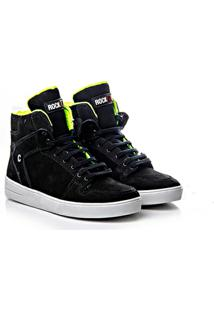 Tênis Sneaker Rock Fit Couro Nobuck - Feminino