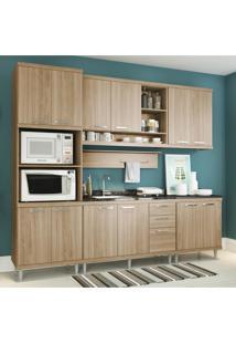 Cozinha Completa Multimóveis Com 6 Peças Sicília 5814 Argila/Argila