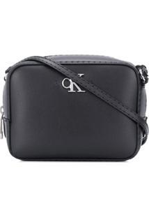Calvin Klein Bolsa Transversal Quadrada Com Placa De Logo - Preto