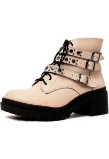 Bota Damannu Shoes Camille Feminina - Feminino-Off White