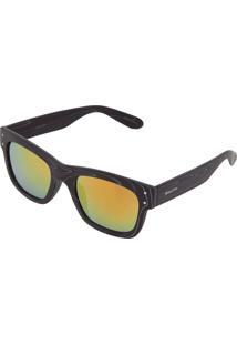 Óculos De Sol Khatto Estampado Preto