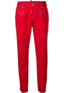 Dsquared2 Cool Girl Skinny Jeans - Vermelho