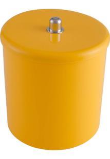 Lixeira Multiuso Com Tampa 6 Litros 20Cmx25Cm Ct4 Astra Amarelo