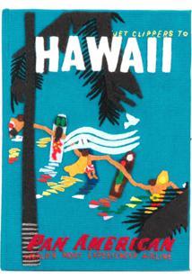 Olympia Le-Tan Clutch 'Hawaiian Surfers' - Azul