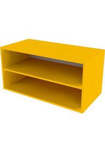Nicho Retangular Com Prateleira Glas Amarelo