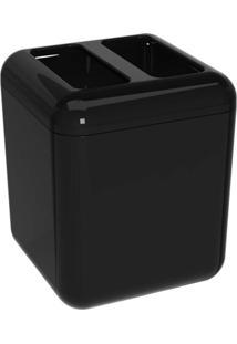 Porta Escova Cube Preto Coza