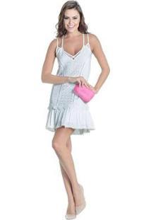 Vestido Off White Renda Guipir Colcci - Feminino-Off White