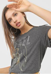 Camiseta Colcci Keep Your Rebel Grafite