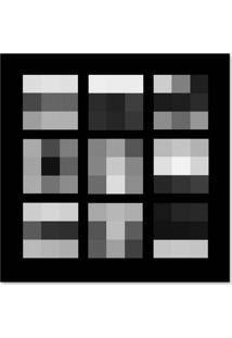 Quadro Abstrato I Uniart Preto & Branco 30X30Cm