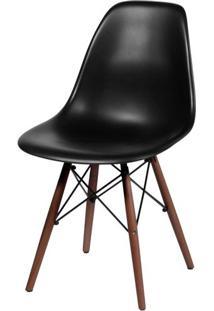 Cadeira Eames Polipropileno Preto Base Escura - 44829 - Sun House
