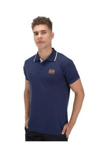 Camisa Polo Ecko Piquet Fash Basic E545A - Masculina - Azul Escuro