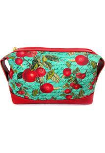 Necessaire Frutas Vermelhas Maria Adna Verde