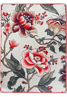 Tapete Andino Floral Ii Retangular Polipropileno (50X80) Vermelho