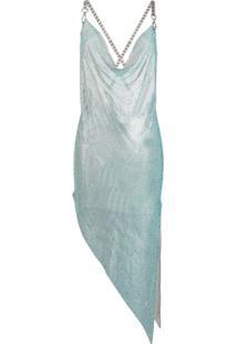 Giuseppe Di Morabito Draped Neck Chainlink Dress - Azul