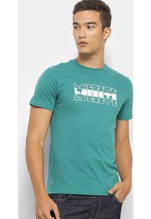Camiseta Lacoste Masculina - Masculino-Verde