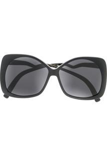 Emmanuelle Khanh Óculos De Sol Quadrado Oversized - Preto