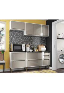 Cozinha Compacta Multimã³Veis New Paris 2836.892 - Com Balcã£O 8 Portas 3 Gavetas - Branco/Incolor - Dafiti