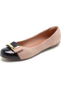 Sapatilha Dafiti Shoes Detalhe Rosa