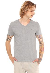 Camiseta Tommy Hilfiger Essential Cinza
