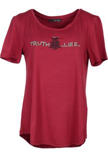 T-Shirt It'S & Co Truth Vinho