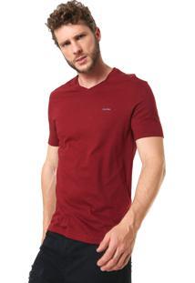 Camiseta Calvin Klein Slim Lisa Vinho