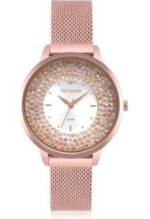 Relógio Technos Feminino Crystal - Feminino-Rosa