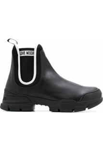 Love Moschino Ankle Boot Tratorada - Preto