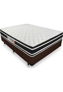 Cama Box Viúva + Colchão De Espuma D33 - Castor - Black White Double Face 128X188X62Cm Marrom