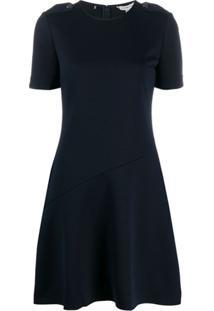 Tommy Hilfiger Vestido Com Abotoamento - Azul
