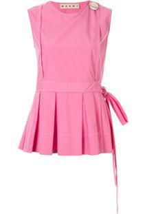 Marni Sleeveless Pleated Blouse - Rosa