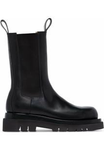 Bottega Veneta High Ankle Chelsea Boots - Preto