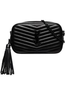 Saint Laurent Bolsa Lou Matelassê Mini - Preto