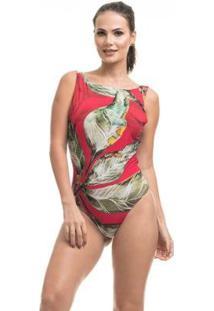 Body Clara Arruda Costa Detalhe 17001 Feminino - Feminino-Vermelho