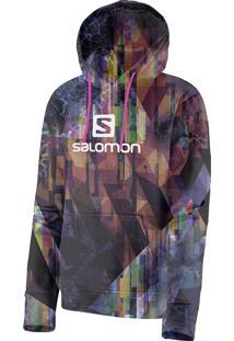 Blusa Feminina Salomon Logo Hoodie Graphic Colorida Tam. Gg