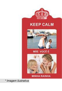 "Painel Para 2 Fotos ""Mãe Rainha""- Vermelho & Branco-Kapos"