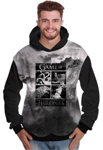 Blusa De Moletom Di Nuevo Brasões Reinos Game Of Thrones Got Preto