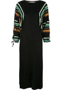 Marni Vestido Listrado - Preto