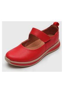 Sapatilha Usaflex Conforto Vermelho