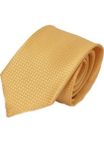 Gravata Dourada Amarela Tradicional Dourado Levok